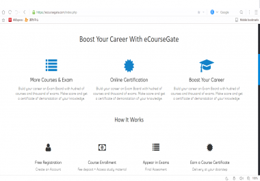 Powerful management system for online exams and certificate