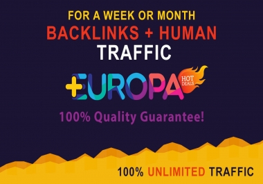 UNLIMITED BACKLINKS + UNLIMITED HUMAN TRAFFIC | FOR A WEEK OR MONTH | PLUS BONUS