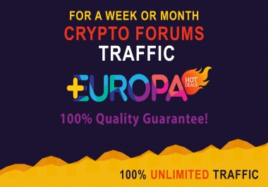 UNLIMITED CRYPTO FORUM TRAFFIC | FOR A WEEK OR MONTH | PLUS BONUS