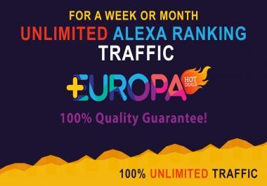 UNLIMITED ALEXA RANKING TRAFFIC | FOR A WEEK OR MONTH | PLUS BONUS