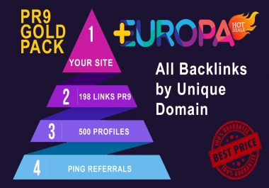 GOLD PACKAGE BACKLINKS | 198 LINKS PR9 + 500 PROFILES + PING REFFERALS