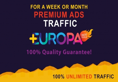 PREMIUM ADS TRAFFIC | FOR A WEEK OR MONTH | PLUS BONUS
