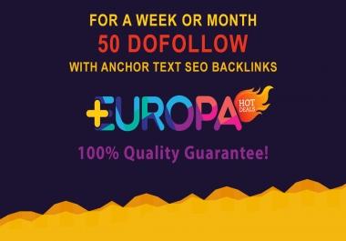 50 DOFOLLOW WITH ANCHOR TEXT SEO BACKLINKS