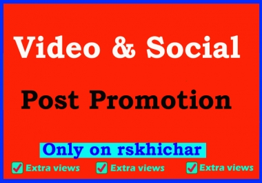 Fast social video views promotion And marketing