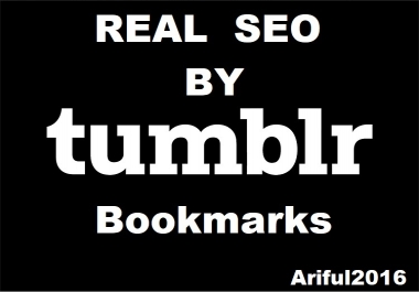 Get 50+ Tumblr Bookmarks For Real SEO