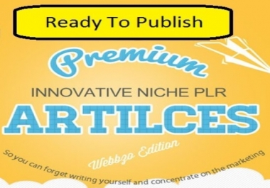 Get 100,000 Ready To Publish PLR (Private Label Rights) Articles