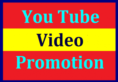 YouTube Video Promotion & Social Media Marketing Non Drop Guaranteed