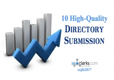 10 High-Quality Directory Submission, SEO Backlinks