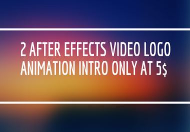 2 High Quality Adobe After Effects Video Logo Animation Intro