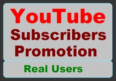 YouTube account Promotion with High-quality Users Standard pack