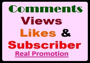 Video Comments, Views, Likes Promotion from Good Profiles