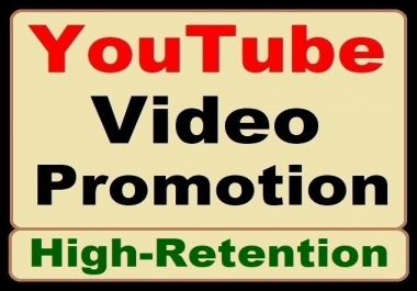 High Retention YouTube Video Promotion with Real Audience