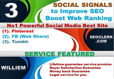 Powerfull Top 3 Platform 13,100 Webshare/Tumblr/Pinterest /Mixed/Social Signals/Backlinks/Bookmarks