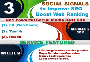 Powerfull Top 3 Platform 5,103 Reddit /Tumblr/Webshare/Mixed/Social Signals/Backlinks/Bookmarks