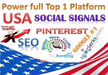 Powerfull Top 1 Platform 32,000 Pinterest Share SEO / Mixed / Social Signals / Backlinks / Bookmarks