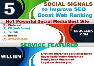 Powerfull Top 5 Platform 7,122 Reddit/Tumblr/Bitly/Pinterest/Mixed/Social Signals/Backlinks/Bookmark