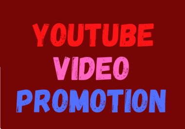 Instantly Start YouTube video And Social Media Marketing promotion