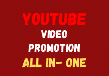 All In One Package permanent YouTube video promotion pack social media marketing fast delivery