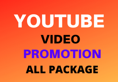 Instantly Start All In One Package YouTube video And Social Media Marketing promotion
