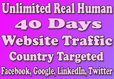 Website Traffic With Real Human Country Targeted For 40 Days