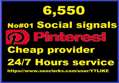 6,550 Pinterest LifeTime USA social Signals for Cpa Affiliate Marketing & Business Promotion Ranking