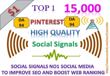 Rocket Delivery 15,000 High Quality Pinterest Share Social Signals to Improve SEO Boost Web Ranking