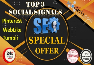 13,200 Real High Quality Pinterest|WebLike|Tumblr Share Social Signals SEO & Social Campaigns