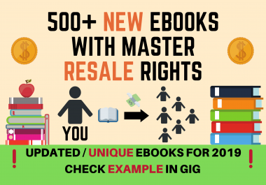 500+ HIGH QUALITY, UNIQUE MRR EBOOKS, UPDATED FOR 2019