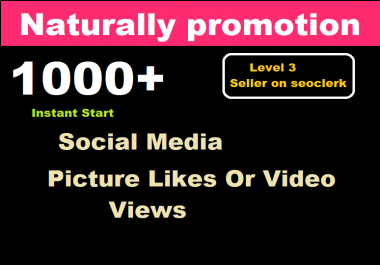 Instant add 1000+ High Quality Likes and Views