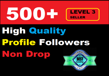 500 Social Media Profile Followers High-quality and Super fast delivery