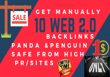 10 Web 2.0 Panda & Penguin safe Backlinks From High PR/Sites