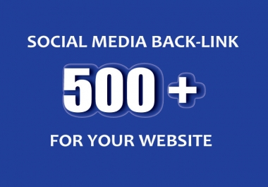 500 Social Network Profile Back-links