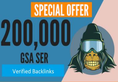 Build 200,000 GSA Ser, Quality Backlinks For Seo Rankings