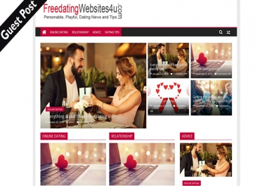 I Will Publish Dofollow Guest Blog On Dating Site