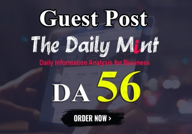 I will write and publish UNIQUE guest post On THEDAILYMINT DA-56