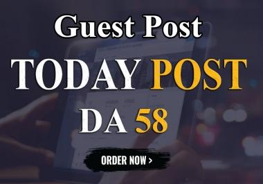 I will write and publish UNIQUE guest post On DA-58