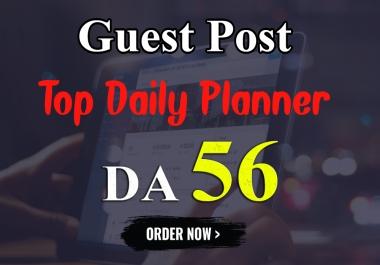 """I will Write & Publish UNIQUE Guest Post on """"TOPDAILYPLANNER"""" DA-56"""