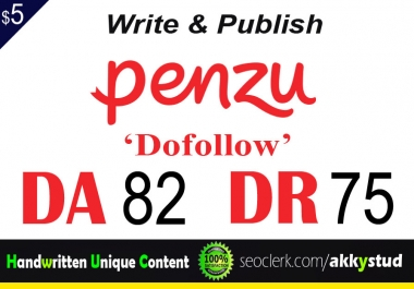 "write and publish UNIQUE guest post on ""Penzu"" DA-82"
