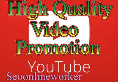 Organic YouTube video promotion fast delivery