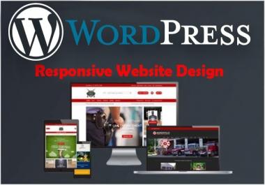 Will Design and Develop Responsive Wordpress Website