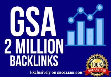 2 Million GSA SER Backlinks For Faster Index on Google