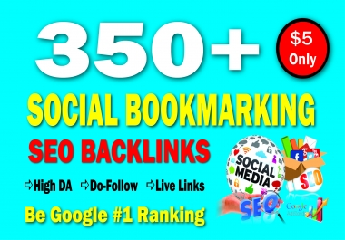 350 High Authority Social Bookmarking SEO Backlinks to Rank Your Website Google #1