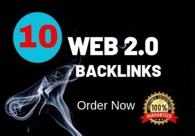 Build High Quality 10 Web 2.0 Blog SEO Backlinks