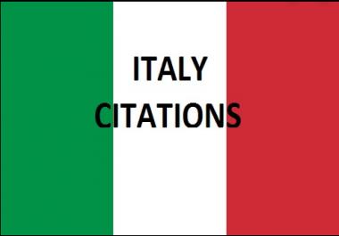 Get 60 Best ITALY Local Citations