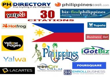 we will create 30 best philippines local citations