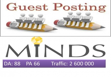 Write and publish on Minds.com DA 88