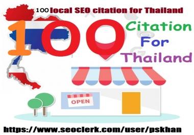 create 100 Citation for Thailand
