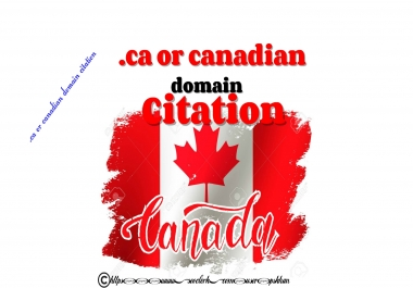 26 .ca or Canadian domain citation