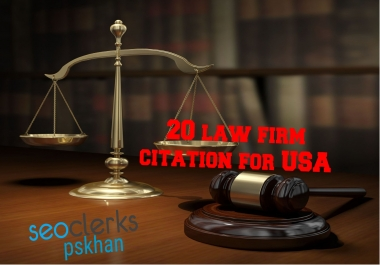 i will give you 20 USA law firm citations