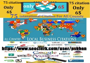 75 International Local SEO Citation for All Country